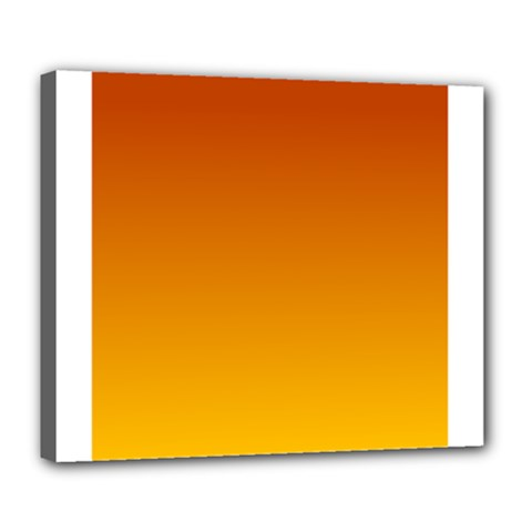 Mahogany To Amber Gradient Deluxe Canvas 24  X 20  (framed) by BestCustomGiftsForYou
