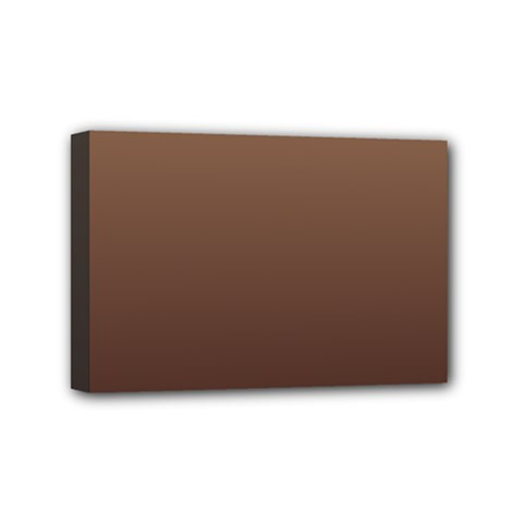 Chamoisee To Seal Brown Gradient Mini Canvas 6  X 4  (framed) by BestCustomGiftsForYou