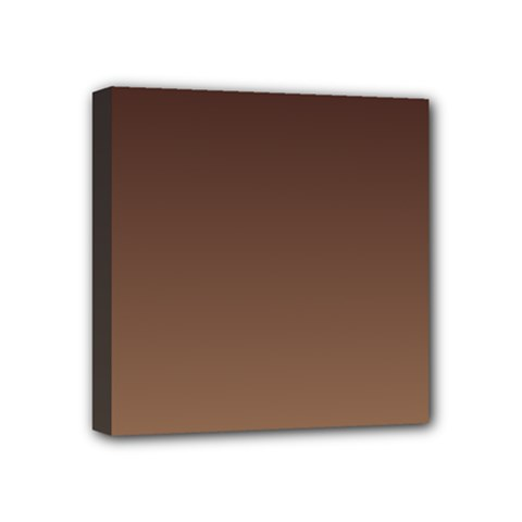Seal Brown To Chamoisee Gradient Mini Canvas 4  x 4  (Framed)