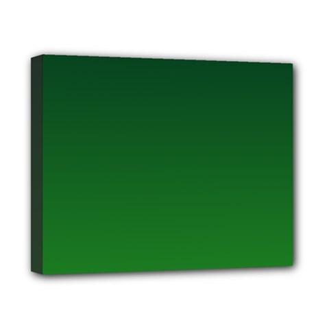 Dark Green To Green Gradient Canvas 10  X 8  (framed)