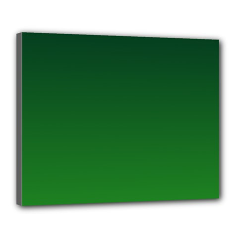 Dark Green To Green Gradient Canvas 20  X 16  (framed) by BestCustomGiftsForYou
