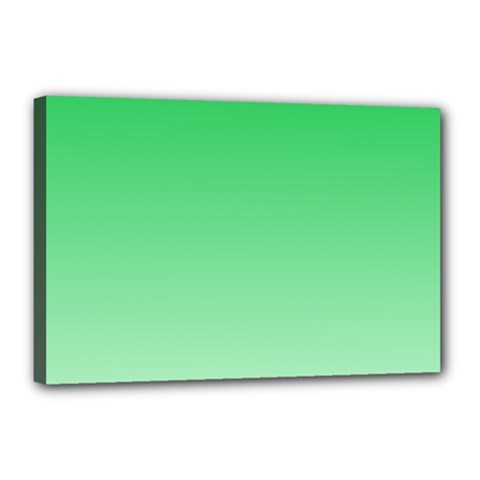 Dark Pastel Green To Pastel Green Gradient Canvas 18  X 12  (framed) by BestCustomGiftsForYou