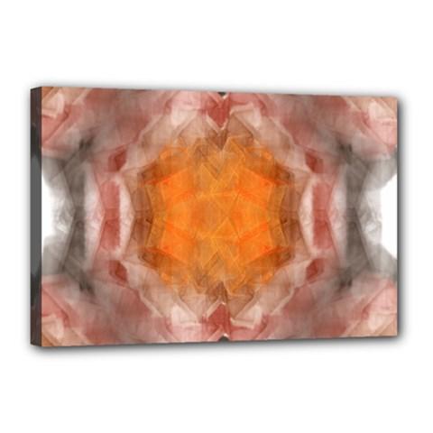 Seamless Background Fractal Canvas 18  X 12  (framed) by hlehnerer