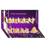 A Merry Christmas 3D Card - Merry Xmas 3D Greeting Card (8x4)