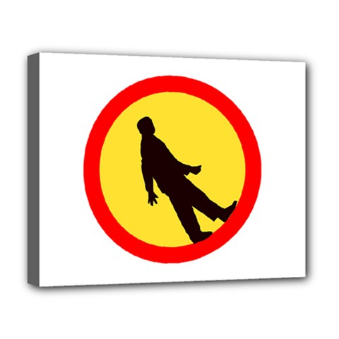 Walking Traffic Sign Deluxe Canvas 20  X 16  (framed) by youshidesign