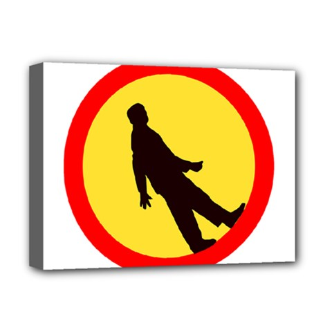 Walking Traffic Sign Deluxe Canvas 16  X 12  (framed)  by youshidesign