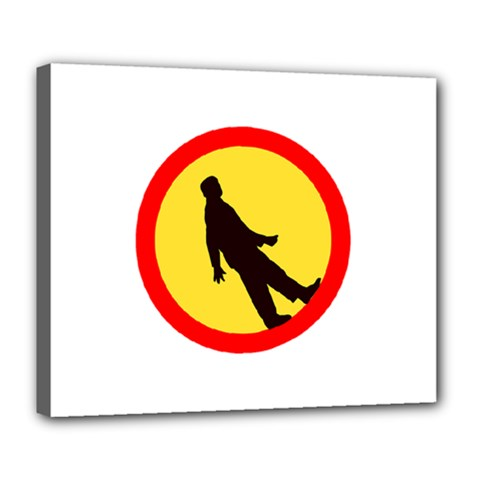 Walking Traffic Sign Deluxe Canvas 24  X 20  (framed) by youshidesign