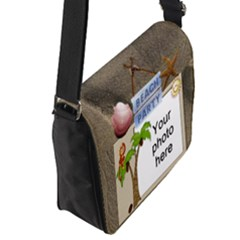 Flap Closure Messenger Bag (S)