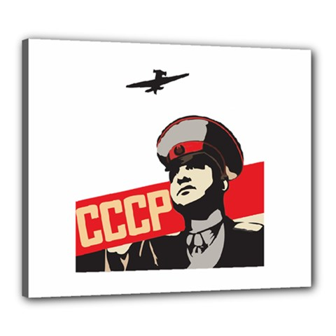 Soviet Red Army Canvas 24  X 20  (framed) by youshidesign