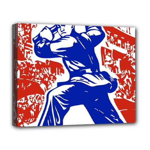 Communist Party Of China Deluxe Canvas 20  X 16  (framed) by youshidesign