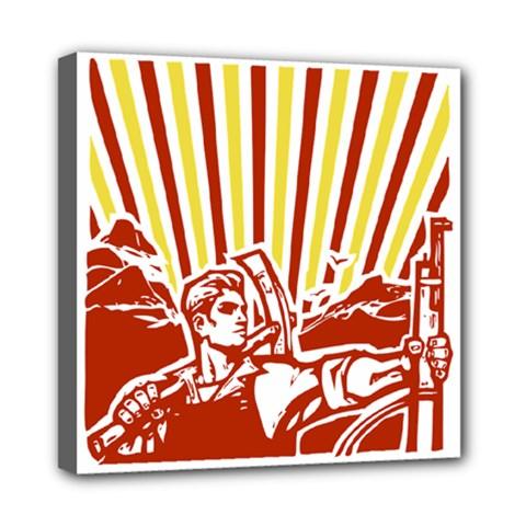 Octobe Revolution Mini Canvas 8  X 8  (framed) by youshidesign