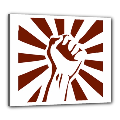 Fist Power Canvas 24  X 20  (framed) by youshidesign