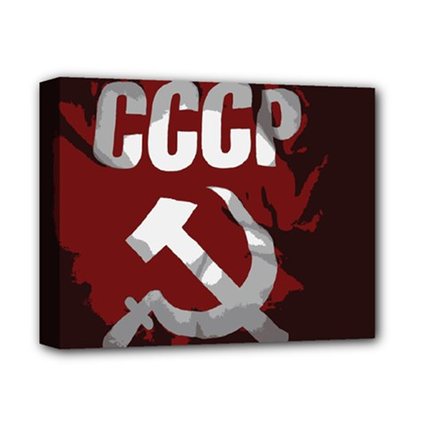 Cccp Soviet Union Flag Deluxe Canvas 14  X 11  (stretched) by youshidesign