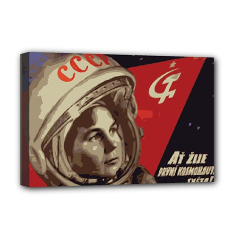 Soviet Union In Space Deluxe Canvas 18  x 12  (Framed) by youshidesign