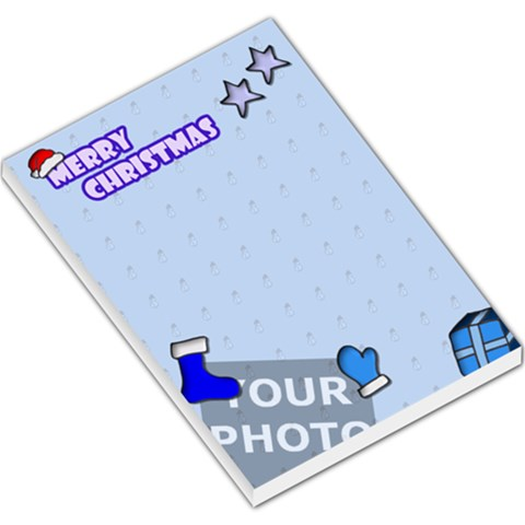 Christmas Large Memo Pad By Matematicaula   Large Memo Pads   Zid3k67rnesn   Www Artscow Com