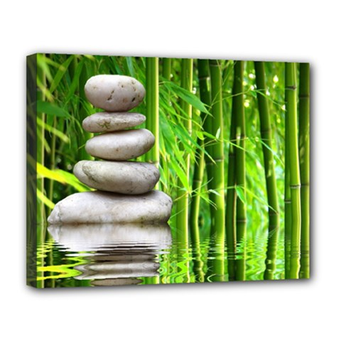 Balance  Canvas 14  X 11  (framed) by Siebenhuehner