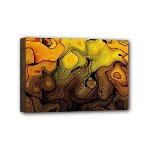 Modern Art Mini Canvas 6  X 4  (framed) by Siebenhuehner