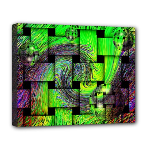 Modern Art Deluxe Canvas 20  X 16  (framed)