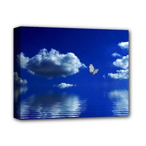 Sky Deluxe Canvas 14  X 11  (framed) by Siebenhuehner