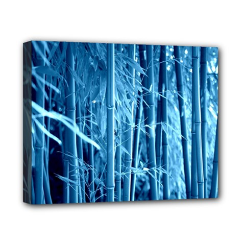 Blue Bamboo Canvas 10  X 8  (framed) by Siebenhuehner