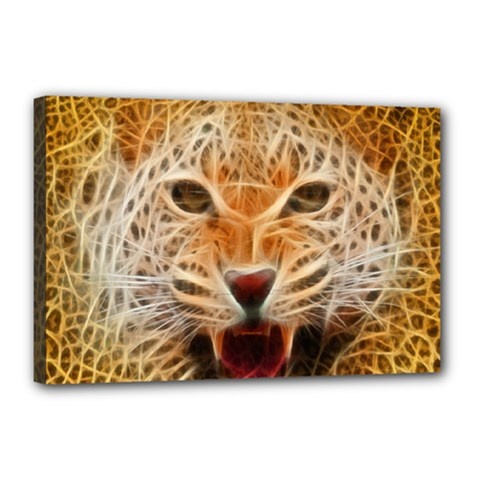 Jaguar Electricfied Canvas 18  X 12  (framed) by masquerades