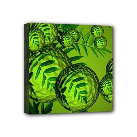Magic Balls Mini Canvas 4  X 4  (framed) by Siebenhuehner