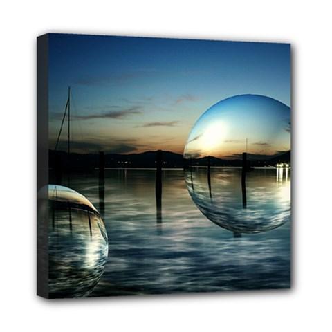 Magic Balls Mini Canvas 8  X 8  (framed) by Siebenhuehner