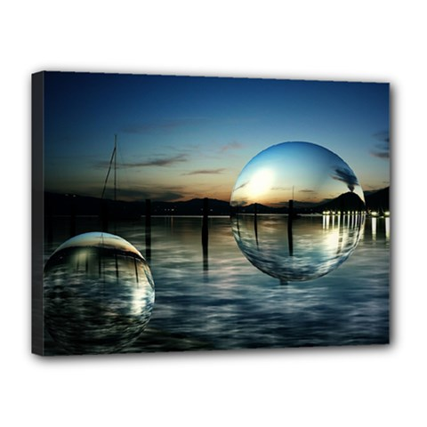 Magic Balls Canvas 16  X 12  (framed) by Siebenhuehner