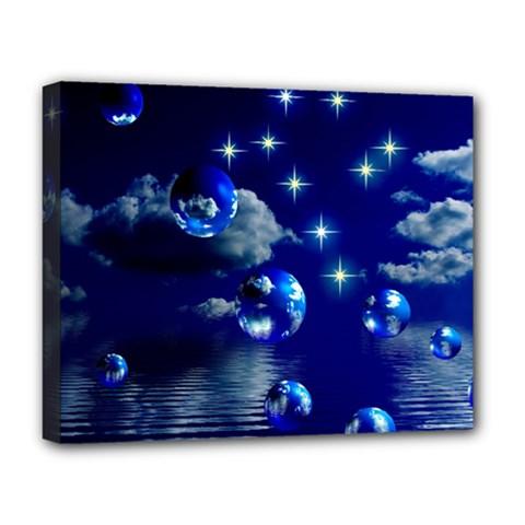 Sky Deluxe Canvas 20  X 16  (framed) by Siebenhuehner