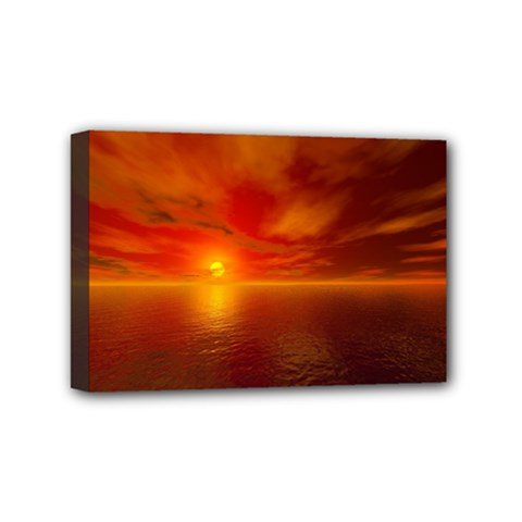 Sunset Mini Canvas 6  X 4  (framed) by Siebenhuehner