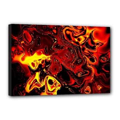 Fire Canvas 18  X 12  (framed) by Siebenhuehner