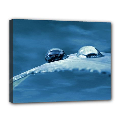 Drops Canvas 14  X 11  (framed) by Siebenhuehner