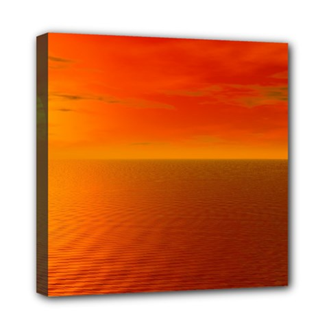 Sunset Mini Canvas 8  X 8  (framed) by Siebenhuehner