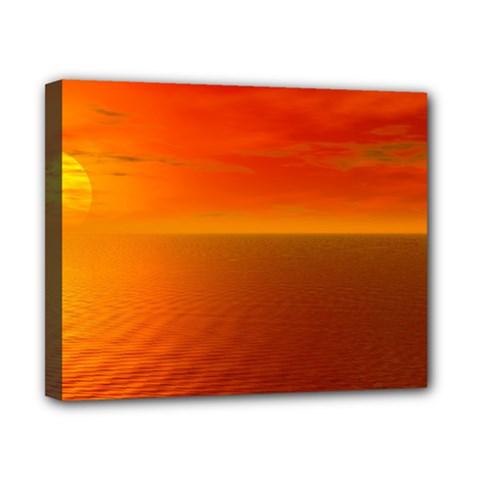 Sunset Canvas 10  X 8  (framed)
