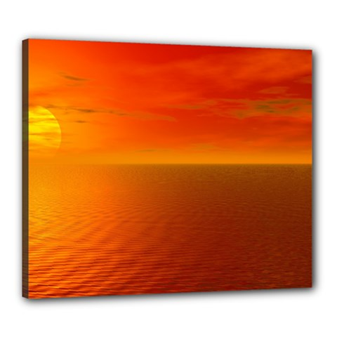 Sunset Canvas 24  X 20  (framed) by Siebenhuehner