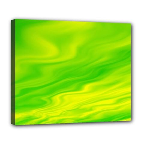 Green Deluxe Canvas 24  X 20  (framed) by Siebenhuehner
