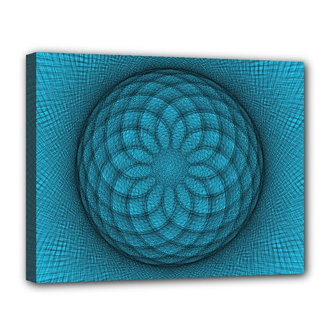 Spirograph Canvas 14  X 11  (framed) by Siebenhuehner