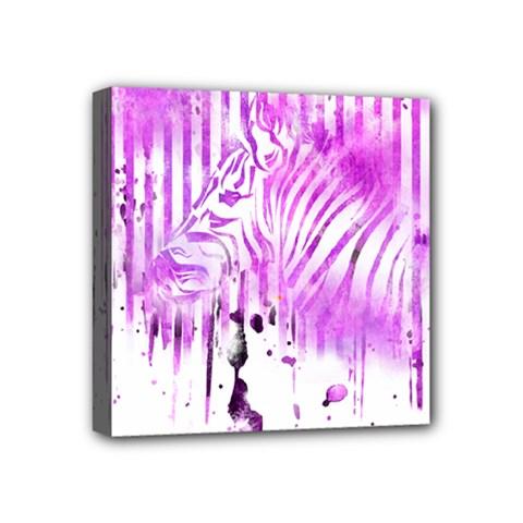The Hidden Zebra Mini Canvas 4  x 4  (Framed) by doodlelabel