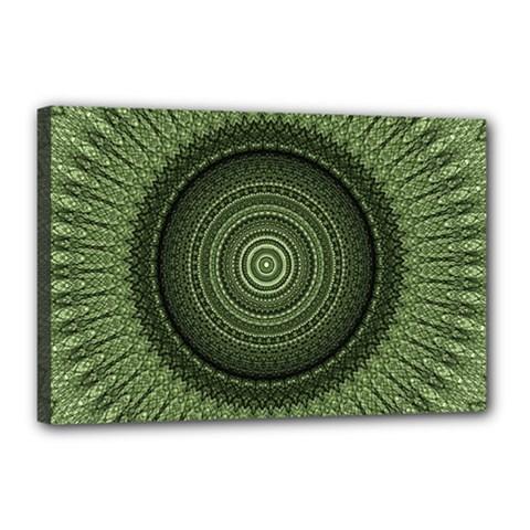 Mandala Canvas 18  X 12  (framed) by Siebenhuehner