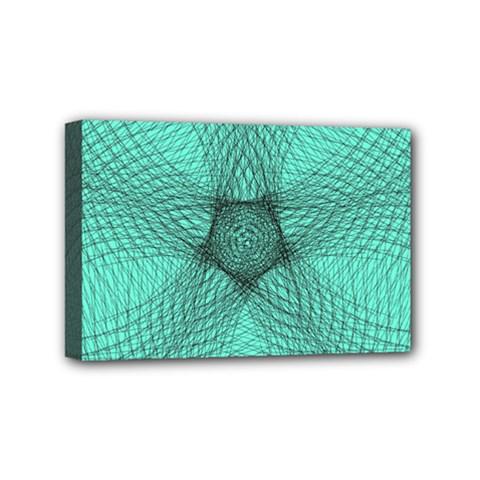 Spirograph Mini Canvas 6  X 4  (framed) by Siebenhuehner