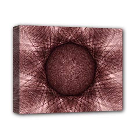 Spirograph Deluxe Canvas 14  X 11  (framed) by Siebenhuehner