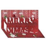 Merry Christmas Card 3D - Merry Xmas 3D Greeting Card (8x4)