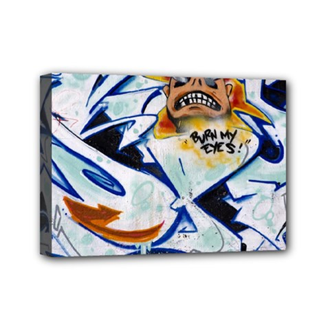 Graffity Mini Canvas 7  X 5  (framed)