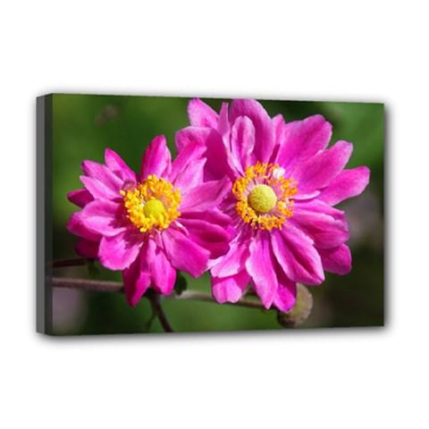 Flower Deluxe Canvas 18  X 12  (framed) by Siebenhuehner