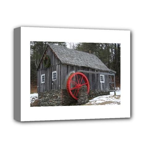 Vermont Christmas Barn Deluxe Canvas 14  X 11  (framed) by plainandsimple
