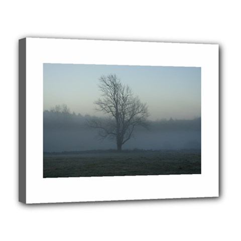 Foggy Tree Canvas 14  X 11  (framed) by plainandsimple