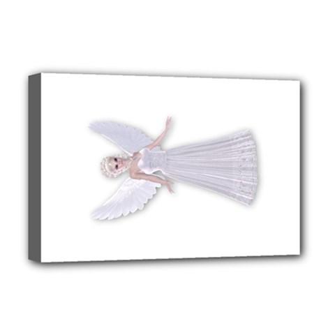 White Fairy Faerie Deluxe Canvas 18  X 12  (framed) by goldenjackal