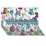 Monster Birthday 3D - Happy Birthday 3D Greeting Card (8x4)