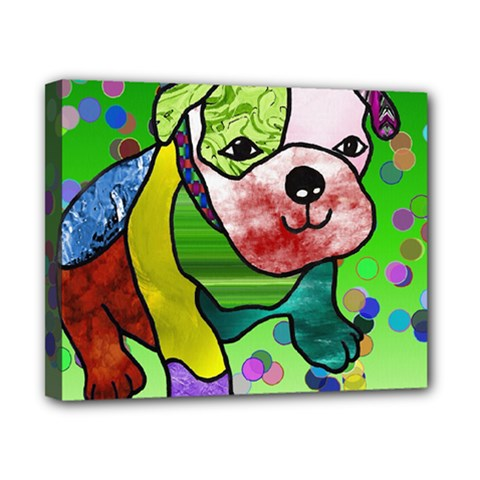 Pug Canvas 10  X 8  (framed) by Siebenhuehner