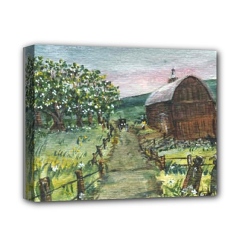 amish Apple Blossoms  By Ave Hurley Of Artrevu   Deluxe Canvas 14  X 11  (stretched) by ArtRave2